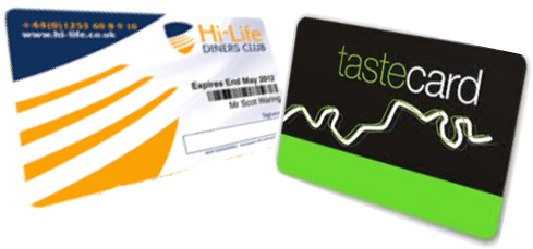 Don't forget your Hi-Life or Tastercard for half price dining